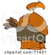 Royalty Free RF Clipart Illustration Of An Embarrassed Bird Pulling Up His Shorts