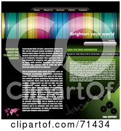 Royalty Free RF Clipart Illustration Of A Colorful Website Template With Tabs And Text Space by michaeltravers