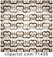 Royalty Free RF Clipart Illustration Of A Brown Ram Pattern Background