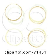 Royalty Free RF Clipart Illustration Of A Background Of Dried Coffee Rings On White by michaeltravers