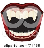 Royalty Free RF Clipart Illustration Of An Open Mount With Red Lips And Fangs by Dennis Holmes Designs