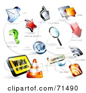 Royalty Free RF Clipart Illustration Of A Digital Collage Of 3d Logo Icons Version 5 by Anja Kaiser