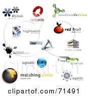 Royalty Free RF Clipart Illustration Of A Digital Collage Of 3d Logo Icons Version 4