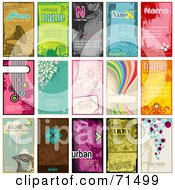 Digital Collage Of Business Card Templates