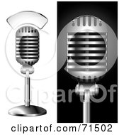 Royalty Free RF Clipart Illustration Of A Digital Collage Of A Studio Microphones by Anja Kaiser