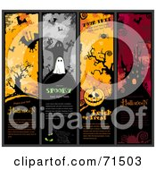 Royalty Free RF Clipart Illustration Of A Digital Collage Of Vertical Halloween Website Headers by Anja Kaiser