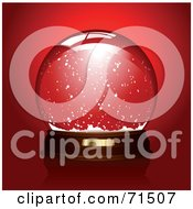 Royalty Free RF Clipart Illustration Of A Clear Snow Globe Over Red by Anja Kaiser #COLLC71507-0142