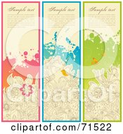Royalty Free RF Clipart Illustration Of A Digital Collage Of Vertical Garden Website Headers by Anja Kaiser
