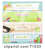 Royalty Free RF Clipart Illustration Of A Digital Collage Of Horizontal Back To School Website Headers by Anja Kaiser