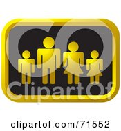 Royalty Free RF Clipart Illustration Of A Black And Golden Family Website Icon