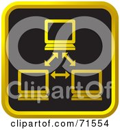 Royalty Free RF Clipart Illustration Of A Black And Golden Network Website Icon