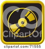 Royalty Free RF Clipart Illustration Of A Black And Golden CD Website Icon