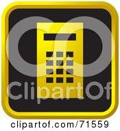 Black And Golden Calculator Website Icon