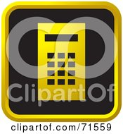 Royalty Free RF Clipart Illustration Of A Black And Golden Calculator Website Icon