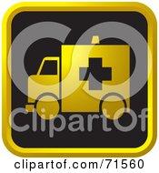 Black And Golden Ambulance Website Icon