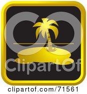Royalty Free RF Clipart Illustration Of A Black And Golden Island Website Icon