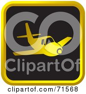 Black And Golden Airplane Website Icon