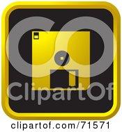 Black And Golden Floppy Disk Website Icon