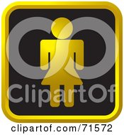 Royalty Free RF Clipart Illustration Of A Black And Golden Lady Website Icon by Lal Perera