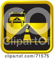 Royalty Free RF Clipart Illustration Of A Black And Golden Road Website Icon by Lal Perera