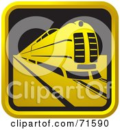 Royalty Free RF Clipart Illustration Of A Black And Golden Train Website Icon by Lal Perera