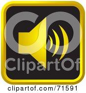 Black And Golden Sound Website Icon - Version 2