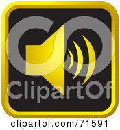 Royalty Free RF Clipart Illustration Of A Black And Golden Sound Website Icon Version 2