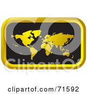 Royalty Free RF Clipart Illustration Of A Black And Golden Atlas Website Icon