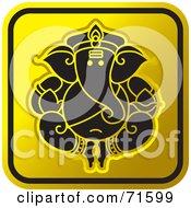 Black And Golden Ganesh Website Icon - Version 1