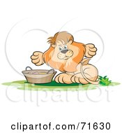 Royalty Free RF Clipart Illustration Of A Male Lion With A Basket
