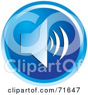 Royalty Free RF Clipart Illustration Of A Blue Circular Audio Icon