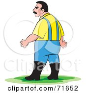 Royalty Free RF Clipart Illustration Of A Male Zoo Keeper In Rubber Boots