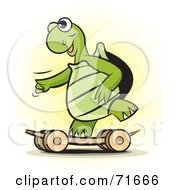 Royalty Free RF Clipart Illustration Of A Sporty Tortoise Skateboarding by Lal Perera