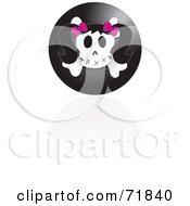 Royalty Free RF Clipart Illustration Of A Black Female Skull Icon With A Reflection by inkgraphics