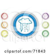 Royalty Free RF Clipart Illustration Of A Digital Collage Of Colorful Round Storm Website Buttons