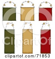 Royalty Free RF Clipart Illustration Of A Digital Collage Of Six Blank Hanging Door Signs