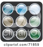 Digital Collage Of Colorful Shiny Rounded Site Icon Buttons Version 4