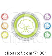 Royalty Free RF Clipart Illustration Of A Digital Collage Of Colorful Round Tree Website Buttons by inkgraphics