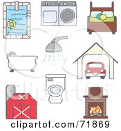 Royalty Free RF Clipart Illustration Of A Digital Collage Of Household Items And Things by inkgraphics #COLLC71869-0143