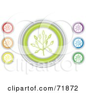 Digital Collage Of Colorful Round Twig Website Buttons by inkgraphics