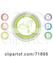 Royalty Free RF Clipart Illustration Of A Digital Collage Of Colorful Round Seedling Website Buttons