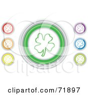 Digital Collage Of Colorful Round Clover Website Buttons
