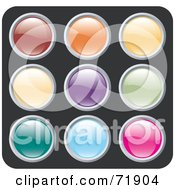 Digital Collage Of Colorful Siny Rounded Site Icon Buttons Version 3 by inkgraphics