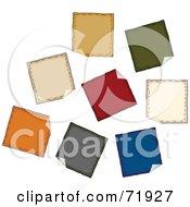 Digital Collage Of Peeling Folk Styled Stickers