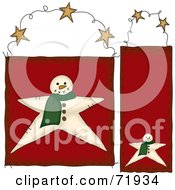 Digital Collage Of Hanging Snowman Door Signs by inkgraphics