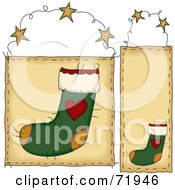 Digital Collage Of Hanging Christmas Stocking Door Signs by inkgraphics