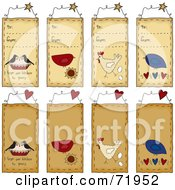 Digital Collage Of To From Folk Art Tags
