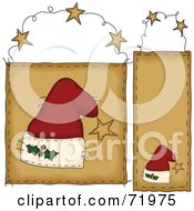 Royalty Free RF Clipart Illustration Of A Digital Collage Of Hanging Santa Hat Door Signs by inkgraphics