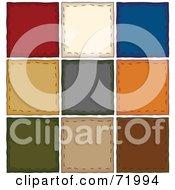 Digital Collage Of Colorful Folk Art Squares