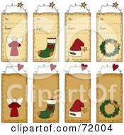Digital Collage Of To From Christmas Folk Tags